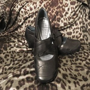 Joseph Seibel Comfy Black Leather Mary Janes NWOT